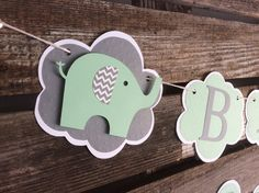 Adorable custom named Elephant Party Banner. Ideal decor for an Elephant Baby Shower. Each banner will come with 4 Elephants When selecting from the drop down menu, only count the letters from your the child's name. Elephant Party, Elephant Baby Showers, Baby Elephant, Unisex Baby Shower, Grey Baby Shower, Baby Shower Gifts, Baby Sprinkle Decorations, Baby Shower Decorations For Boys, Baby Shower Cupcakes For Girls