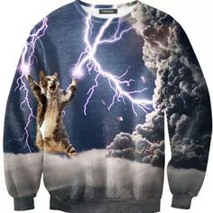 The kitty cat world domination sweater your closet needs.