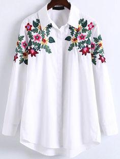 Blusa asimétrica con bordado floral 161213203     25.05€