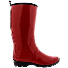 Stylish Womens Rain Boots Water Shoes High Leg With Cute Pattern Tyc272 -- Read more  at the image link.