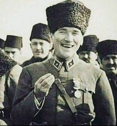 Your smile was beautiful, peace. We need you Atatürk. Turkish Army, The Legend Of Heroes, The Turk, Great Leaders, World Peace, Camping And Hiking, Historical Pictures, World Leaders, Winter Hats