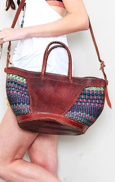 .African baskets / leather... I want to do this to my African-basket