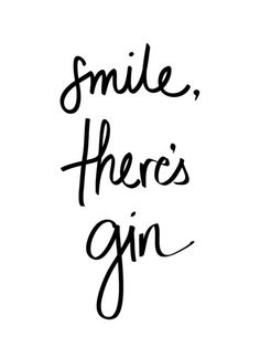 Smile - Gin Framed Art Print by Note to Self: The Print Shop | Society6