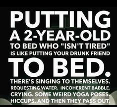 Parenting Meme -Pitting a toddler to bed lol