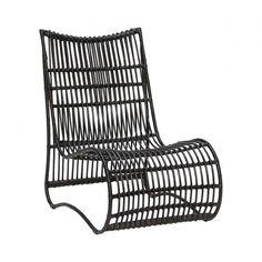 Black Rattan Lounge Chair - Sofas & Armchairs - Furniture
