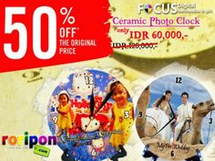 [ 50% Discount ] Create Your Best Photo Moment Into Ceramic Photo Clock At Focus Digital.Simply Elegan And Make It Memorable For Souvenirs With Half Price Now Only Idr 60,000,- At www.roripon.com