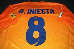 FC Barcelona 2012 - 2013 A.INIESTA Away Jersey Shirt & Shorts Size M by Nike. $49.99. Printed sponsor. Adult Jersey  Shirt & Shorts  Size M. Barcelona Club badge. Machine washable. Nike Dri-Fit fabric. Nike FC Barcelona Away Jersey 2012/2013  The Nike FC Barcelona 2012/2013 Away Shirt provides a hugely vibrant look on the pitch, with a fusion of colour to the body, complete with printed sponsor to the middle and lower back, famous club badge and tradition Nike...