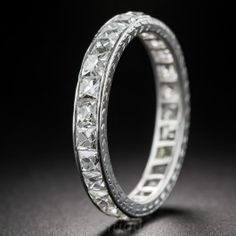 d195015c3f6 Tiffany  amp  Co Platinum French Cut Diamond Band - What s New Vintage  Engagement Rings
