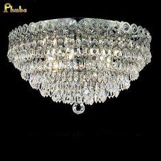 De cristal do teto luminária Chrome luz de teto lâmpada de iluminação largura 40 cm garantido 100% + frete grátis