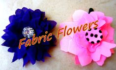 DIY Fabric Flowers Part : 1