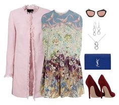 Untitled #2408 by elia72 on Polyvore featuring polyvore, fashion, style, Valentino, Gianvito Rossi, Yves Saint Laurent, Blue Nile and Miu Miu #elia72
