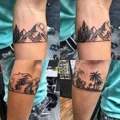 Arm band to commemorate a year traveling the world. Artist:Hanzi at Bloody Ink studio, Kuala Lampur : tattoos Dreieckiges Tattoos, Rare Tattoos, Forearm Band Tattoos, Trendy Tattoos, Body Art Tattoos, Small Tattoos, Sleeve Tattoos, Tattoos For Guys, Inner Elbow Tattoos