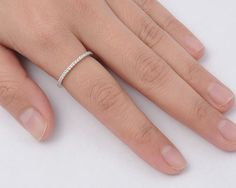 Usa Seller Eternity Thin Band Sterling Silver 925 Best Price Jewelry Selectable