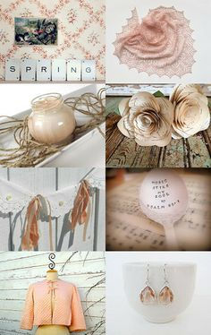 Peaches and Cream by Michele on Etsy--Pinned with TreasuryPin.com