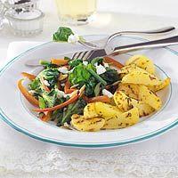 Recept - Aardappelpartjes met spinazie en geitenkaas - Allerhande