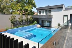 Pool and Glass wall by Frameless expressions