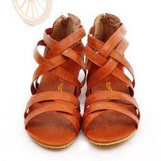 58bc522112681d new arrival 2014 straps women sandals flat heel fashion design female  summer shoes sandal for woman plus size free ship