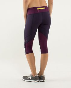 Lululemon Run: For Your Life Crop - hyper stripe plum/plum/pow stripe angel wing