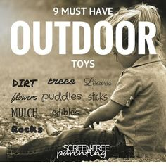 9 MUST HAVE screen-free outdoor toys