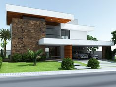 Top 10 Modern house designs – Modern Home Villa Design, Facade Design, Roof Design, Exterior Design, Modern Architecture House, Modern Buildings, Architecture Design, Modern House Plans, Modern House Design