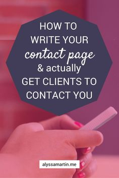 How to write your Contact Page (and actually get clients to contact you) The contact page is one of the most underrated pages on your website. Essentially, your contact page is the start of your moolah making process. Digital Marketing Logo, E-mail Marketing, Business Marketing, Internet Marketing, Online Marketing, Content Marketing, Business Entrepreneur, Entrepreneur Ideas, Facebook Marketing