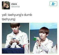 Biiiish! Never call someone dumb or stupid! Please, it's rude -_- #BTS #V