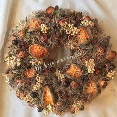 My homemade Autumn wreath.....by Silvia Hokke