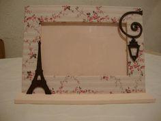 Porta Retrato Paris. | Lua Nova Artesanatos | Elo7