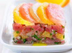 Tartare de thon frais aux agrumes
