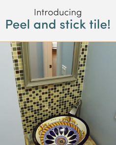 New Ideas Kitchen Diy Videos Makeover Smart Tiles Peel Stick Backsplash, Peel And Stick Tile, Stick On Tiles, Backsplash Tile, Kitchen Tiles, Diy Kitchen, Diy Videos, Beautiful Kitchens, Cool Kitchens