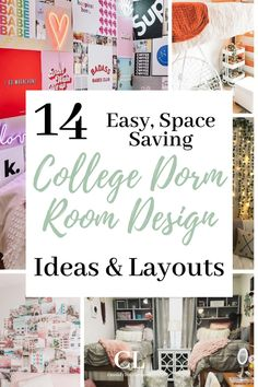 Here are 9 of the best dorm rooms for 2020 that you NEED to see. Plus, we added 5 dorm room essentials to help prepare you for freshmen year dorm life. #college #dorm