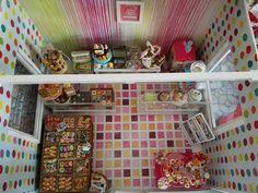 Pasteleria miniatura bakery dollhouse cupcake shop