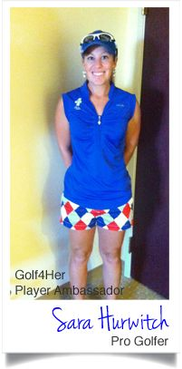 Sara Hurwitch at the LPGA Symetra Tour Island Resort Championship wearing #LoudmouthGolf and #JoFit available at Golf4Her.com