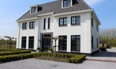 White villa - The Netherlands European Style Homes, Dutch House, Neoclassical Architecture, Thatched House, House Blueprints, Dream House Exterior, Facade House, Scandinavian Home, My Dream Home