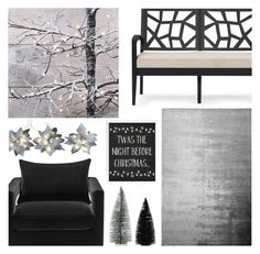 """""""Modern Christmas"""" by dreamingdaisy ❤ liked on Polyvore featuring interior, interiors, interior design, home, home decor, interior decorating, Baxton Studio, Designers Guild, Starlite Creations and modern"""