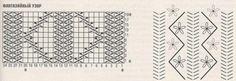 Схема рельефного узора и вышивки для женского пуловера