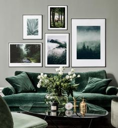 43 Creative Wall Art Design Idea for Living Room Wall Art wall art ideas Living Room Green, Living Room Art, Living Room Designs, Living Room Gallery Wall, Fresh Living Room, Living Room Prints, Living Room Photos, Cozy Living, Inspiration Wall