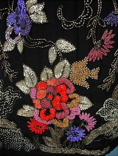 Embroidery on a 1925 dress