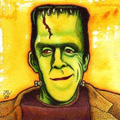 Comic Art Collective - J. Williams : Herman Munster : Original comic art for sale by top alternative comic artists. of your money goes directly to the artist. Munsters Tv Show, The Munsters, Munsters House, Evil Pictures, Evil Pics, Frankenstein Art, Herman Munster, Alternative Comics, Turner Classic Movies