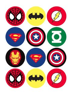 The Avengers Superhero Cupcake Toppers - Batman Printables - Ideas of Batman Printables - 12 rounds per sheet. Ships to US territory only. School Birthday, 4th Birthday Parties, Boy Birthday, Birthday Cupcakes, Birthday Ideas, Super Hero Birthday, Super Hero Theme, Party Cupcakes, Birthday Images