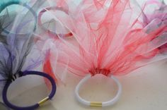DIY summer craft for kids! Tutu inspired hair ties