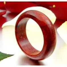 Ring aus echter Koralle Schaumkoralle glatt rot Korallenring Damen schlicht