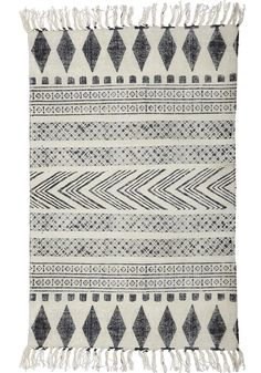 Scandinavian pattern is similar to many indigenious tribes across the world...their color palette is what distinguishes them. This rug is wonderfully priced and gorgeous to look at. ($165) Rug Block Ad0220 Black/Grey — Bodie and Fou - Award-winning inspiring concept store