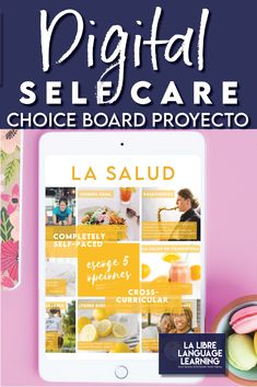 A choice board is a perfect way to engage remote learning Spanish classrooms. Based on student voice, this health vocabulary and self care project for middle school Spanish or high school Spanish class is a self-paced, Google Slides digital activity for distance learning and hybrid classrooms. This Spanish project idea is full of authentic texts for novice learners about health, food vocabulary, and hobbies to keep students healthy