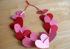 Preschool Crafts for Kids*: Valentine's Day Heart Necklace Preschool Craft