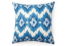 ikat outdoor pillow