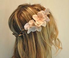 Flower Hair Crown, Bohemian Flower Halo, Woodland Hair. $35.00, via Etsy.