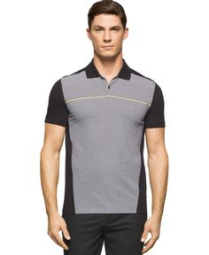 Calvin Klein Colorblocked Striped Polo Shirt