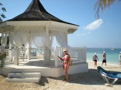Sandals Wedding Gazebo On Negril Beach Jamaica Nice Place To Renew Our Vows