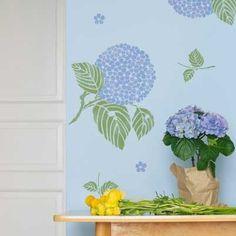 Flower Stencils | Japanese Hydrangea Floral Stencil | Royal Design Studio
